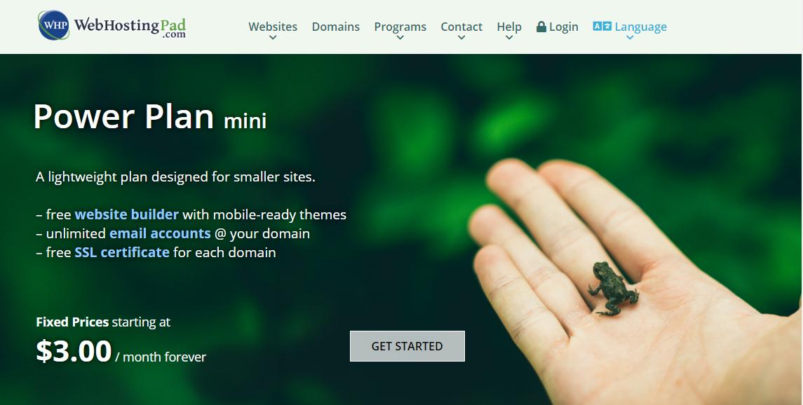 webhostingpad-mini-plan