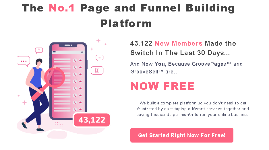 GrooveFunnels No 1 Funnel Builder